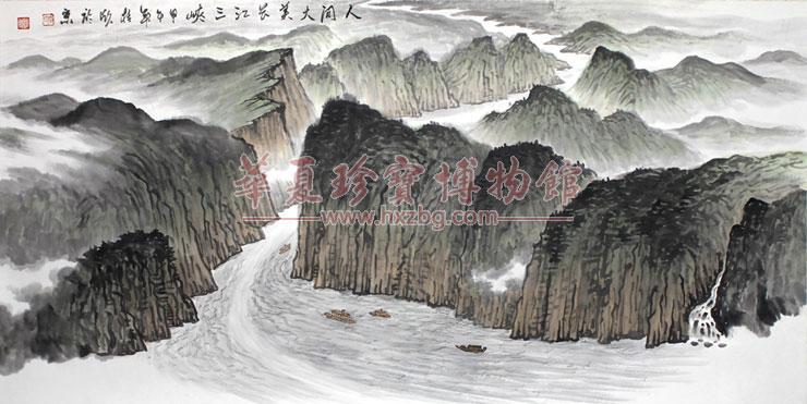 中国当代五大水墨山水画名家张馨月,苗桂欣,张鸿君,戚文义和谭述